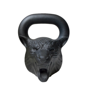 35 LB Wolf Animal Face Kettlebell