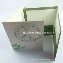 Personalizado A4 separador de índice dobrável Pocket Folders / 2 bolsos pasta de arquivo de papel de apresentação para fichário