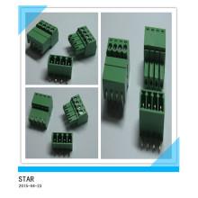 3.5mm Winkel 4 Pin / Way Green Steckbare Art Schraubklemmenblock Stecker