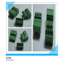 Connecteur enfichable à vis de type enfichable vert de Pin / angle de 3.5mm d'angle de 4mm