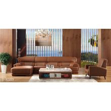 Sofá de cuero de muebles asequibles