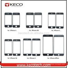 Teléfono móvil frontal de pantalla táctil reemplazo de lente de cristal para iphone