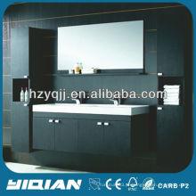 Design Europeu Espresso Acabamento Moderno Estilo Duplo Lavatório Banheiro Vanity