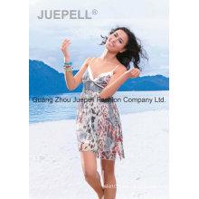 Mujeres tejidas Leopard Print Slip Tops