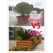 Anti-Corrosion Composite Wood Vinyl PE Flower Pot Box for Sale