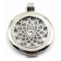 Manufacturer Directly High Quality 316L Stainless Steel Locket with Prong Setting Stones