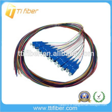 SC / UPC 12color 0.9mm G657A2 Fibre Optique Pigtail