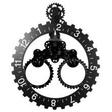 Gear Reloj de pared con calendario