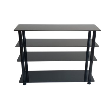 Black Tempered Glass Shelf Shoes Stand/Shoes Cabinet