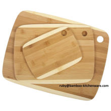Core 2 Color Design Mixing Delicacy Vegetable Diet Bamboo Wooden Cutting Board Block