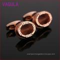 Rose Gold Plated Opal Copper Cuff Links L52301