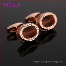 Rosa banhado a ouro opal cobre manguito links l52301