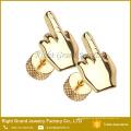 El tapón de oído falso del acero inoxidable de la joyería vendedora caliente del cuerpo tapa el enchufe medio del dedo