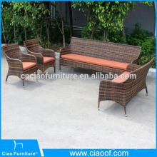 Ensemble de chaises de sofa en osier de meubles de jardin