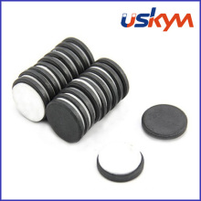 Disc Ferrite Magnets with Adhesive (D-004)