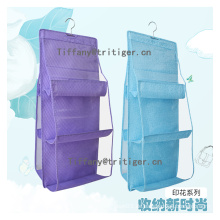 6-Pockets Clear PVC pocket organizer over the door hanging organizer