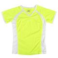 El amarillo de neón de la nueva señora de encargo t shirt