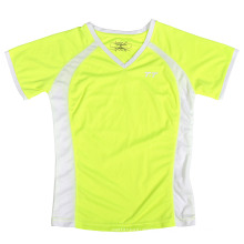 New Custom Lady′s Neon Yellow T Shirt