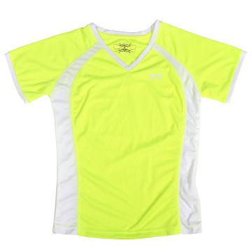 New Custom Lady′s Neon Yellow T Shirt