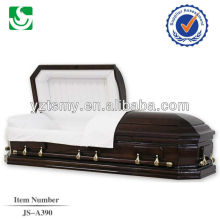 American classic solid wood glossy casket for burial