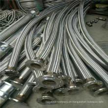 Ölbeständiger geflanschter rostfreier Stahl-flexibler metallischer Schlauch des Edelstahl-6 Zoll