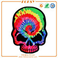 Rainbow Skull embroidery patch iron on