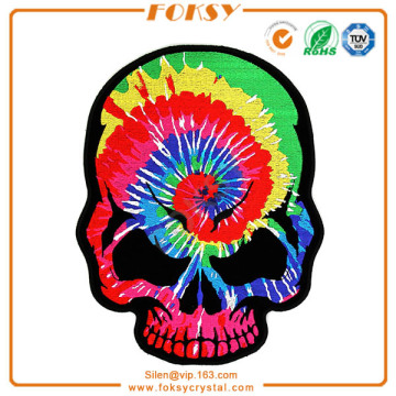 Rainbow Rainbow Skull Broder Patch Iron on