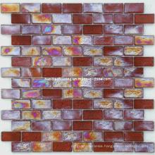 Strip Iridescent Mosaic Glass Mosaic (HGM320)
