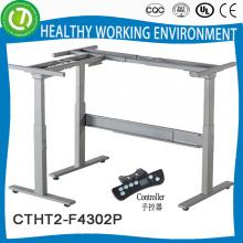 Искусственный высота регулируемый рабочий стол рамку с электрическим высота панели управления