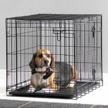 Barato y duradero PVC recubierto Negro perro de animal doméstico jaula