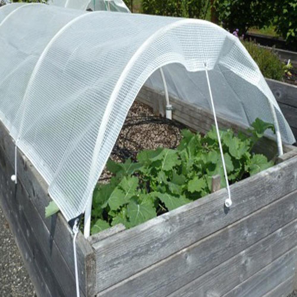 Transparent Gridding Poly Tarp For Garden Greenhouse