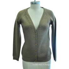 Модный зимний акриловый свитер с кардиганом с кнопкой