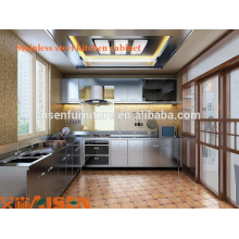 Aisen Glossing Stainless Steel Kitchen Cabinets Design