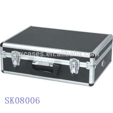 Black Aluminum BBQ Tool Case with rounded corner