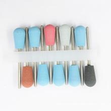 China Manufactory Aluminum Polishing Stick Cuticle Salon Use White Silicon Polisher Bits Nails