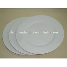 10.5 inch porcelain flat plate