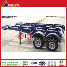 Remorque squelettique de 40 tonnes pour le châssis de conteneur de transport de récipient