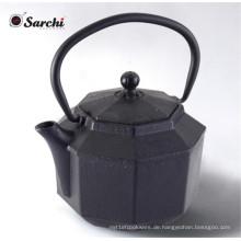 Gusseisen Teekanne mit einem voll emaillierten Innenraum Schöne Hammered Design