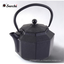 Café de ferro de ferro fundido de esmalte chinês 1200ML com infusor de aço inoxidável