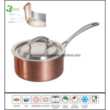 3 Ply Body Saucepan with Copper Kitchen Ware