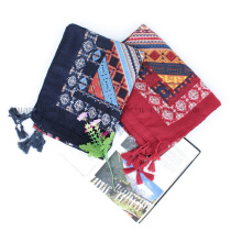 OEM Fashion Cotton Linen Scarf Shawl and Pareo for Promotional Gift