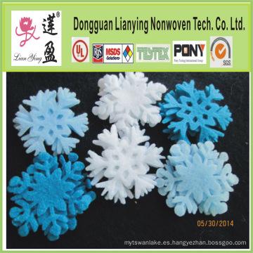 Copos de nieve de fieltro en cualquier color