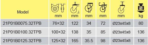 Parameters Of 21P01B0100.32TPB
