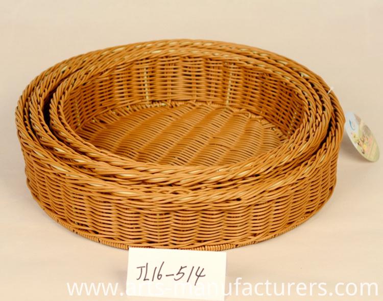 plastic rattan basket