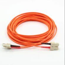 Sc-Sc Multimode Duplex Fiber Optic Patch Cord with Clips