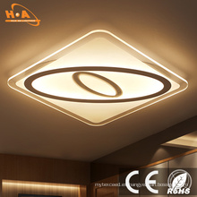 Modern Square Ultra Slim Iluminación interior LED Ceiling Light Crystal