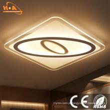 Cristal moderno da luz de teto do diodo emissor de luz da iluminação interna ultra magro quadrada moderna