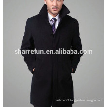 2016 new fashion single-breasted business men wool cashmere overcoat