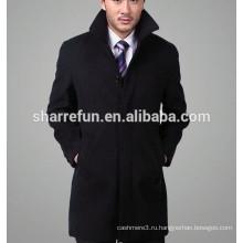 2016 новая мода однобортный бизнес мужская шерсть кашемир пальто