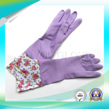 Cleaning Work Anti Acid Latex Gloves with High Quality